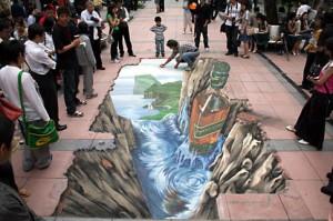 3D sokak sanatı için Guinness Dünya Rekoru kırdı!