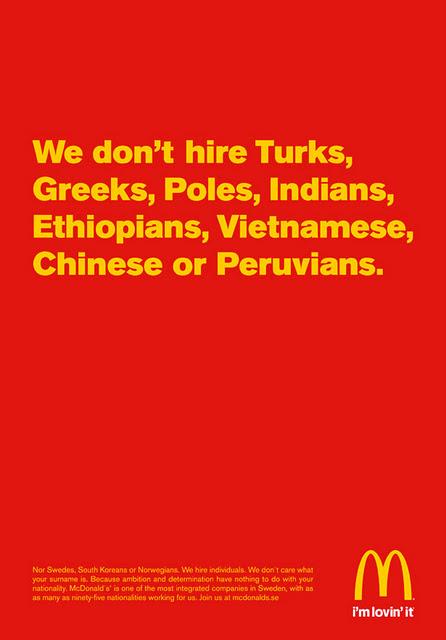McDonald's Türkleri işe almıyormuş