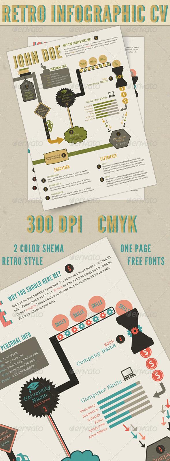 Retro Infographics Resume - http://graphicriver.net/item/retro-infographics-resume/400231?WT.ac=search_thumb&WT.z_author=barpaff