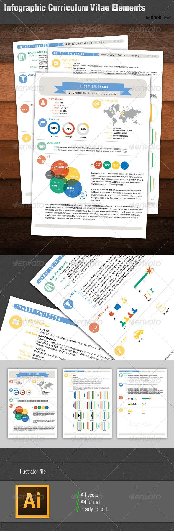 Infographic Curriculum Vitae Resume Elements - http://graphicriver.net/item/infographic-curriculum-vitae-resume-elements/5238032?WT.ac=search_thumb&WT.z_author=GoodIdeas