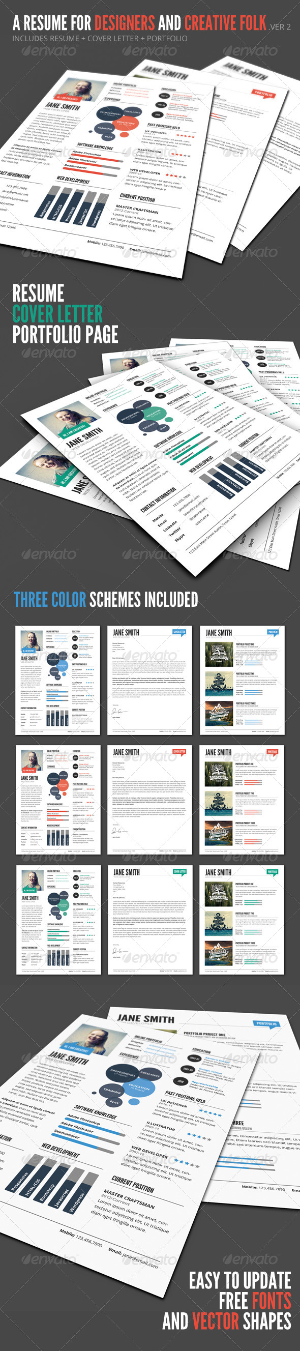 InfoGraphic Style Resume Template - Ver 2 - http://graphicriver.net/item/-infographic-style-resume-template-ver-2/7985766?WT.ac=search_thumb&WT.z_author=GraphicMonkee