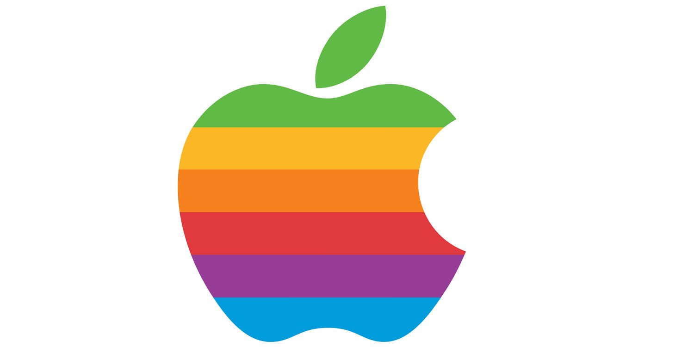 elma logosu gökkuşağı