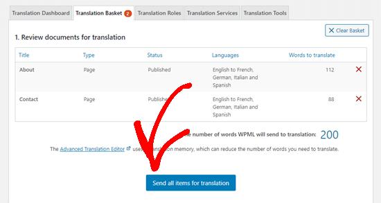İçeriğinizi çeviri için gönderin