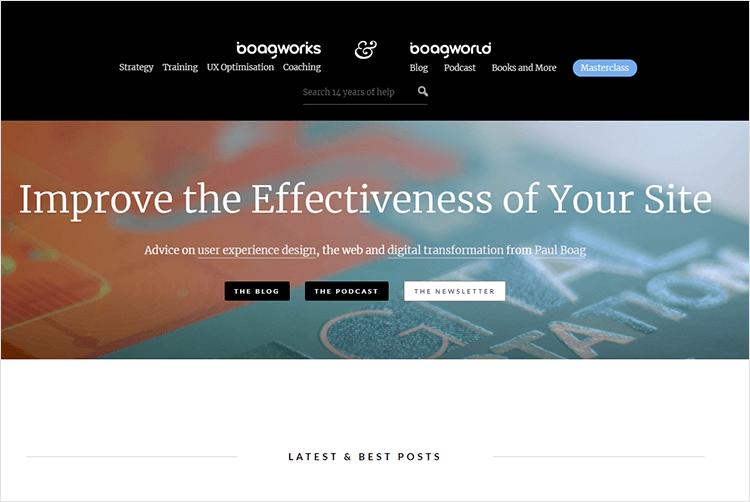 en iyi web tasarım blogları - Boagworld