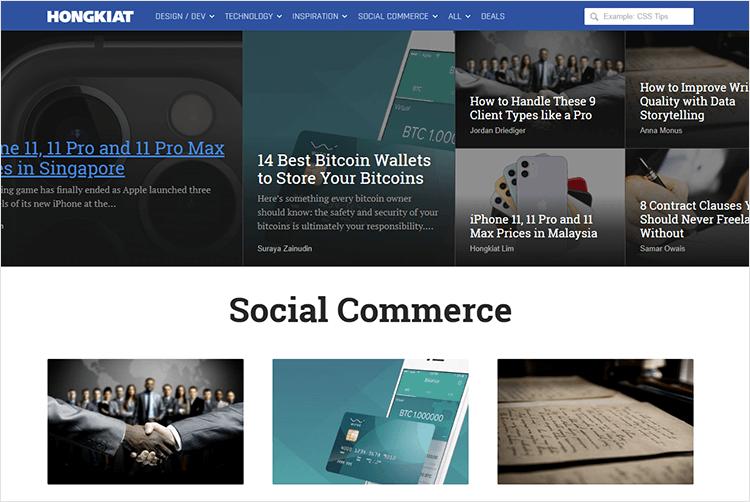 en iyi web tasarım blogları - Hongkiat