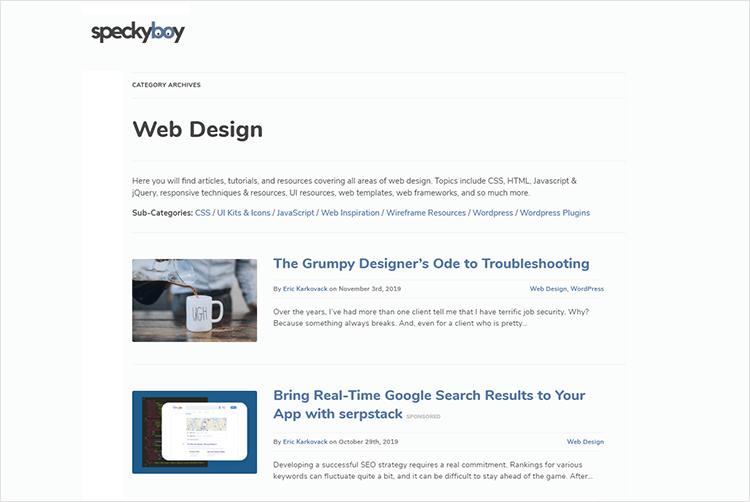en iyi web tasarım blogları - Speckyboy