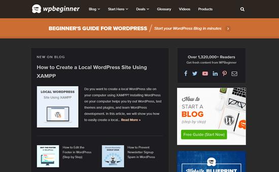 WordPress web sitesi, Chrome 'Night Eye' uzantısı kullanılarak görüntülendi