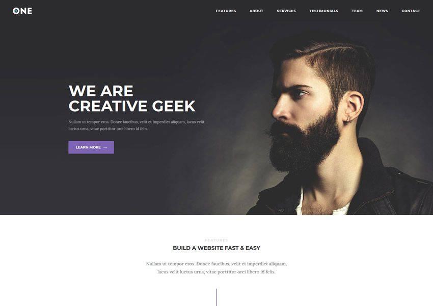 Meridian One-Page Ücretsiz WordPress Teması wp Responsive Business Kurumsal