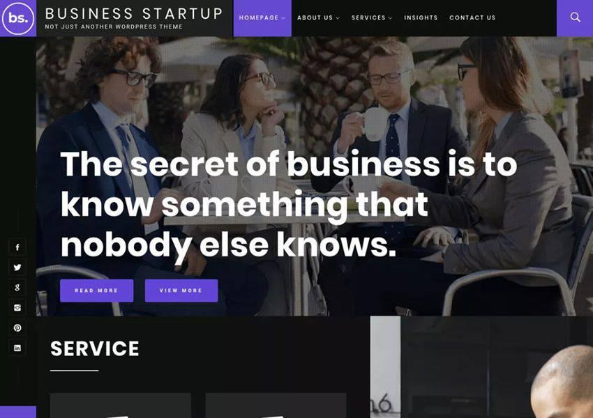 Business Startup Ücretsiz WordPress Teması WP Responsive Business Kurumsal