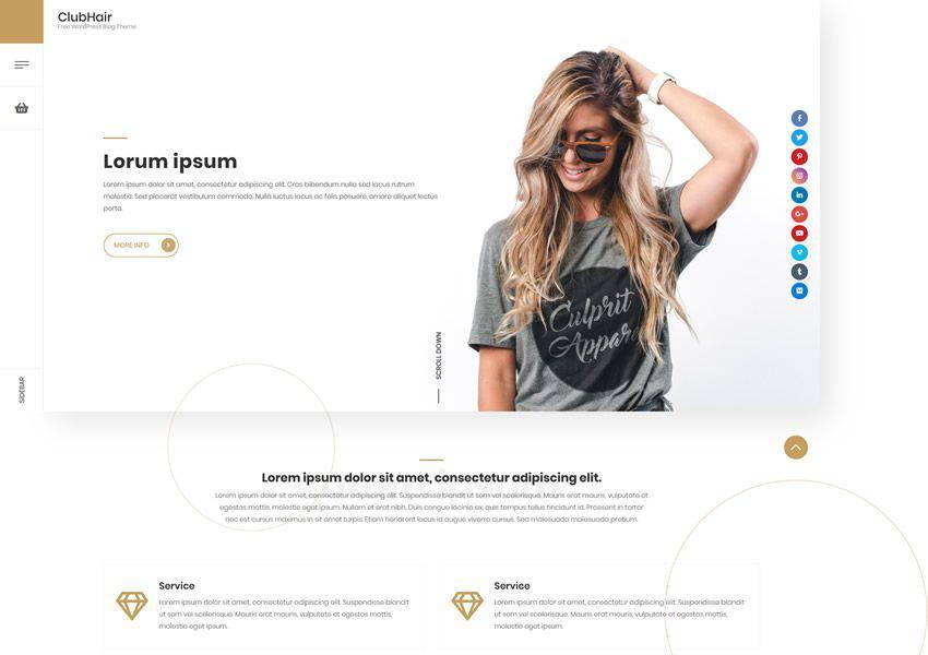 ClubHair Ücretsiz WordPress Teması WP Responsive Business Kurumsal
