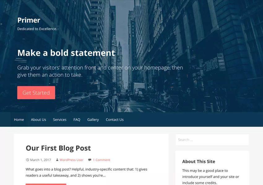 Primer Güçlü ücretsiz wordpress teması wp duyarlı iş kurumsal