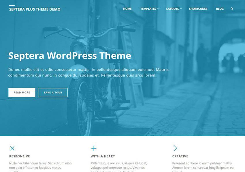 Septera Çok Amaçlı Ücretsiz WordPress Teması WP Responsive Business Kurumsal