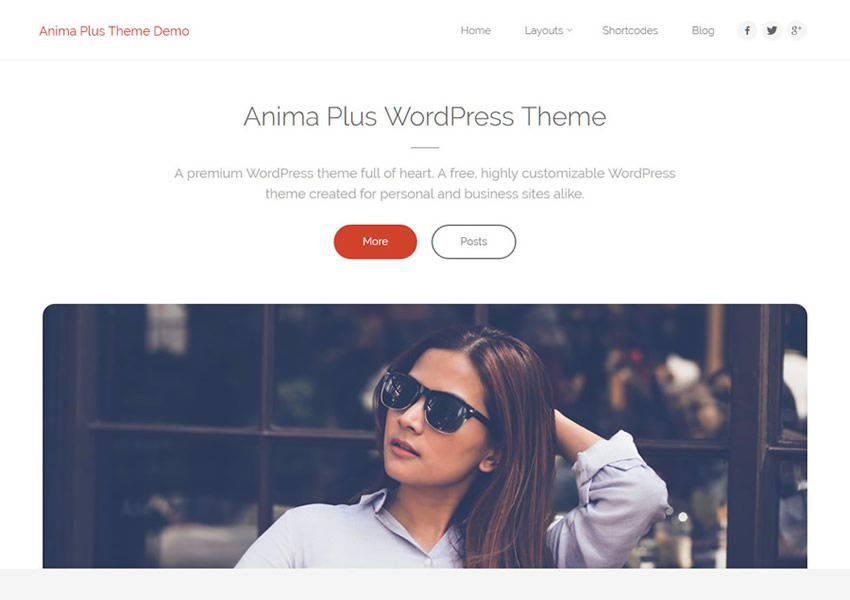Anima Son Derece Özelleştirilebilir ücretsiz wordpress teması wp duyarlı iş kurumsal