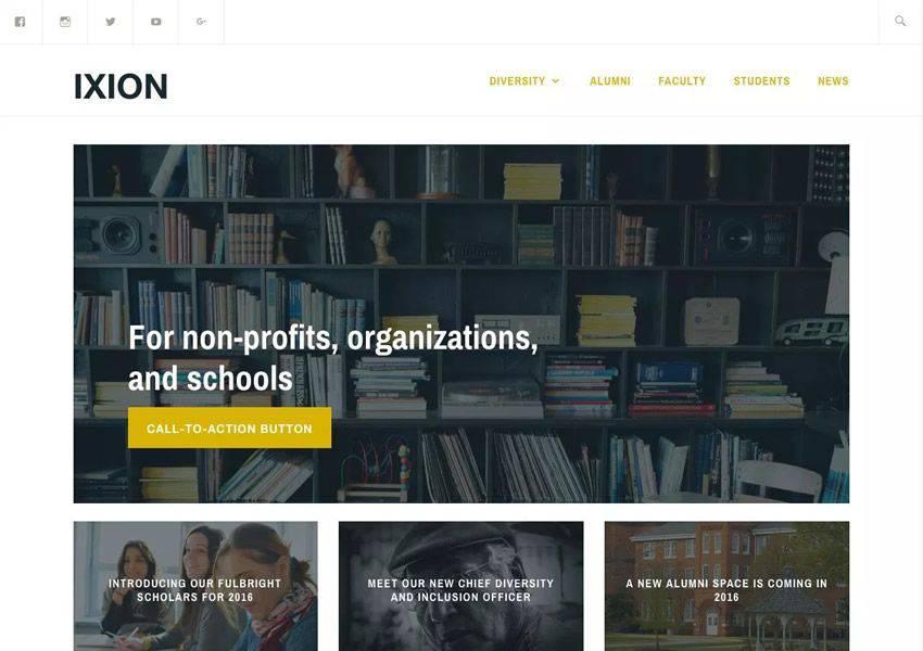 Ixion Ücretsiz WordPress Teması WP Responsive Business Kurumsal