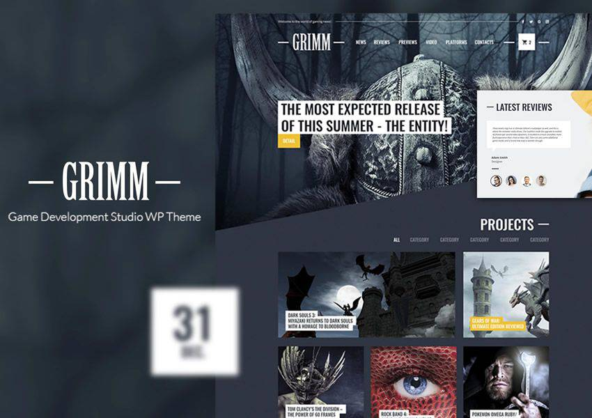 Game Studio Ücretsiz WordPress Teması WP Responsive Business Kurumsal