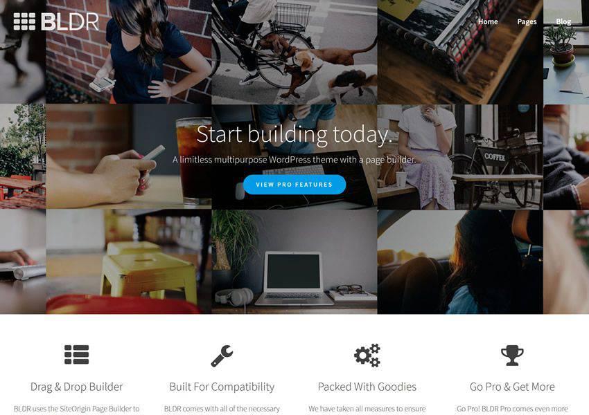 BLDR Çok Amaçlı ücretsiz wordpress teması wp responsive business kurumsal