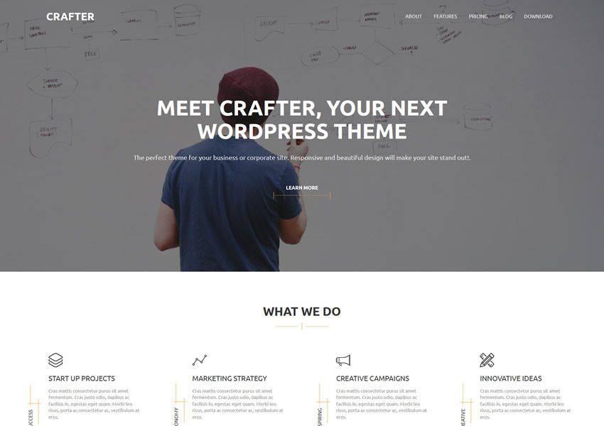 Crafter Ücretsiz WordPress Teması WP Responsive Business Kurumsal